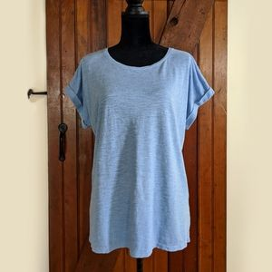 Eileen Fisher Hemp/ Organic Cotton Periwinkle Top